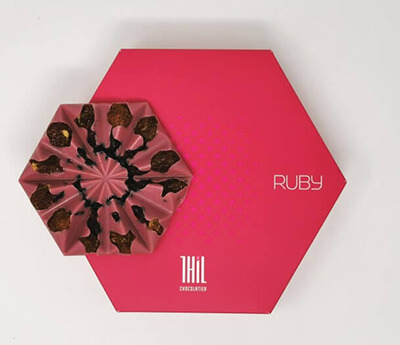 Coffret chocolat Ruby à offrir Noël - Chocolaterie Thil